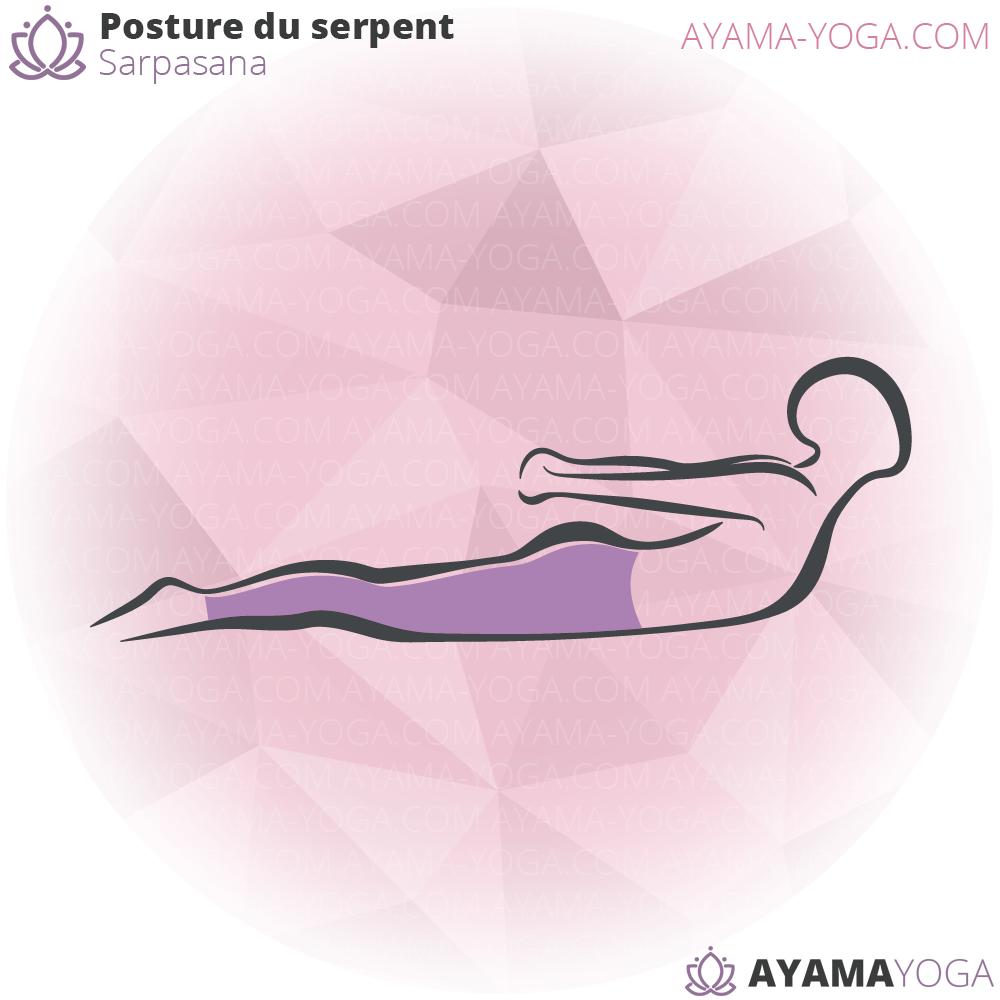 Posture du serpent – Sarpasana